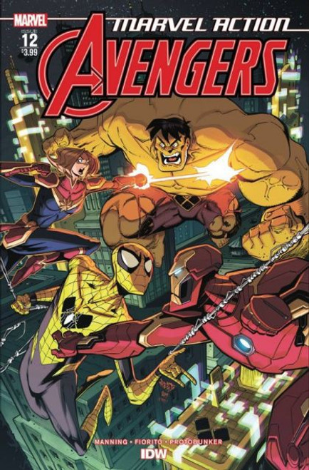 IDW Publishing Marvel Action: Avengers #12A Comic Book