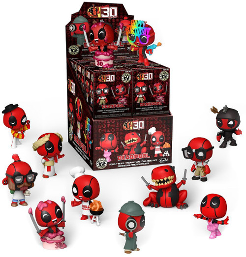 Funko Marvel Mystery Minis Deadpool 30th Mystery Box [12 Packs] (Pre-Order ships April)