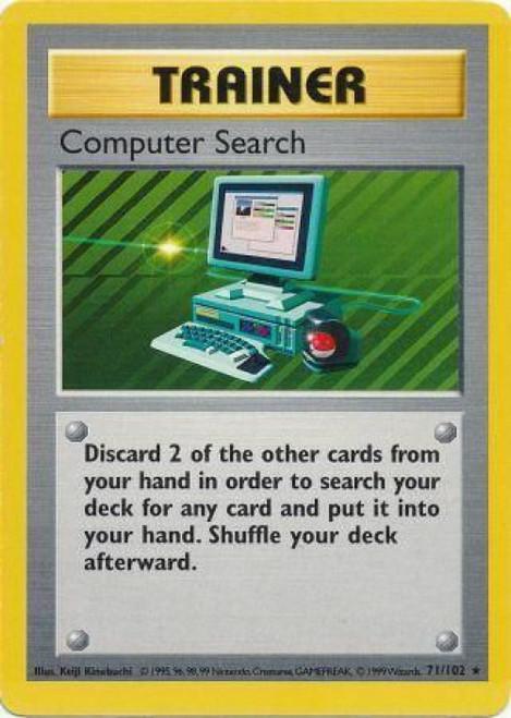 Pokemon Base Set Rare Computer Search #71 [Shadowless]