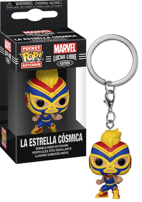 Funko Marvel Luchadores Pocket POP! La Estrella Cosmica Keychain [Captain Marvel]