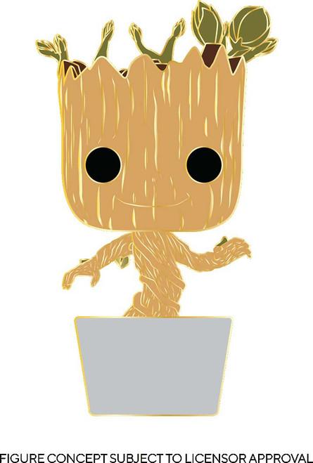 Funko Marvel Guardians of the Galaxy POP! Baby Groot Large Enamel Pin [Regular Version] (Pre-Order ships April)