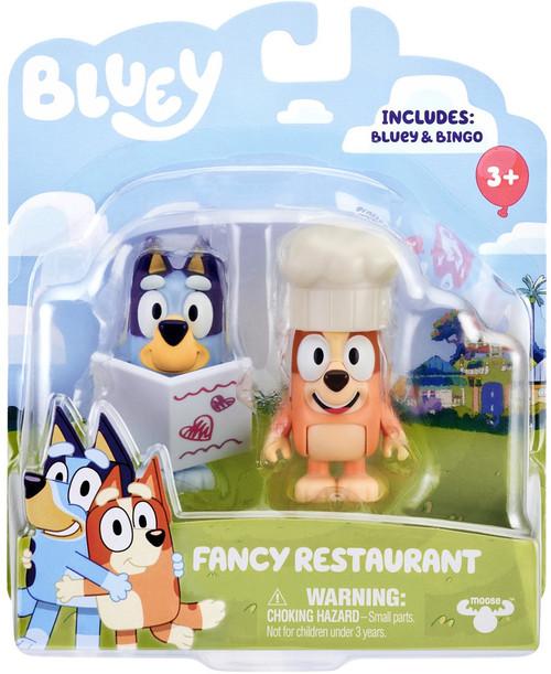 Bluey Fancy Restaurant Mini Figure 2-Pack [Bluey & Bingo]