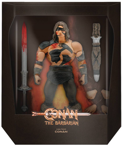 The Barbarian Ultimates Wave 3 Conan Deluxe Action Figure [War Paint] (Pre-Order ships November)