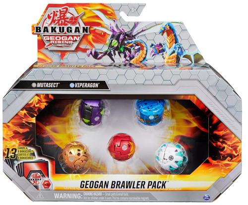 Bakugan Geogan Rising Brawler Pack Mutasect, Viperagon, Dragonoid, Ferascal & Pincitaur 5-Figure Set