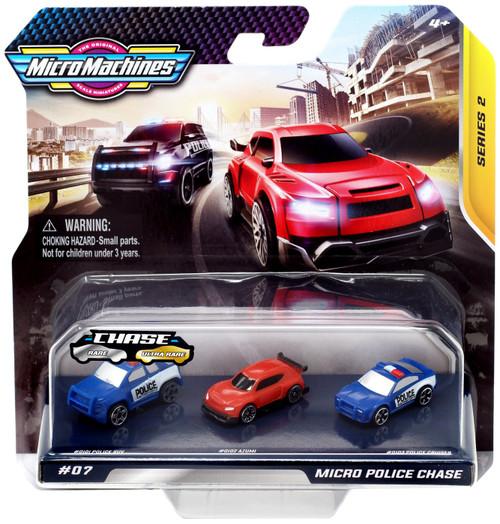 Micro Machines Series 2 Police SUV, Azumi & Police Cruiser Vehicle 3-Pack