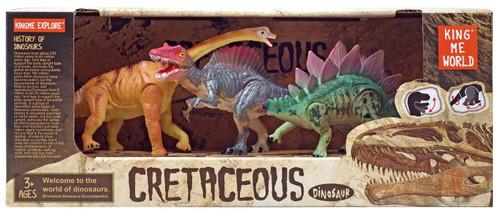 Cretaceous Dinosaur Brachiosaurus, Stegosaurus & Spinosaurus Action Figure 3-Pack [Version 1]