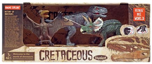 Cretaceous Dinosaur Triceratops, Tyrannosaurus Rex, & Pterodactyl Action Figure 3-Pack [Version 2]