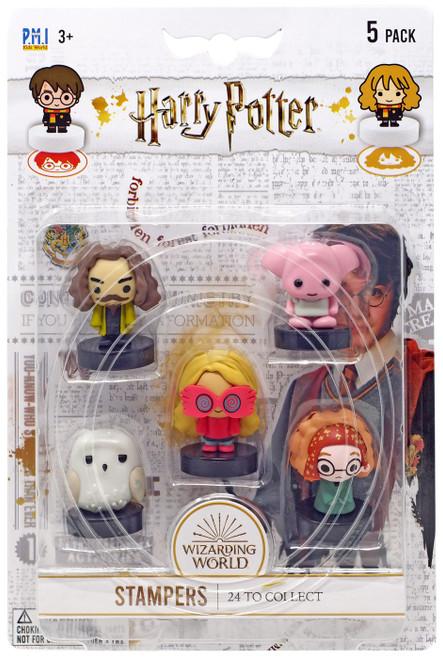 Harry Potter Luna Lovegood, Sirius Black, Dobby, Hedwig & RANDOM CHARACTER Stamper 5-Pack