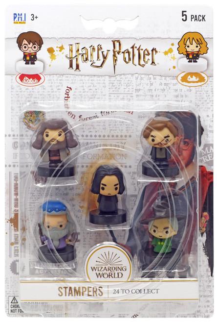 Harry Potter Severus Snape, Rubeus Hagrid, Remus Lupin, Albus Dumbledore & Albus Dumbledore Stamper 5-Pack