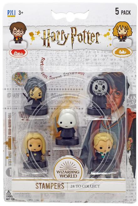 Harry Potter Voldemort, Bellatrix Lestrange, Death Eater, Lucius Malfoy & Draco Malfoy Stamper 5-Pack