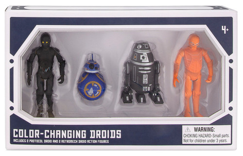 Disney Star Wars Galaxy's Edge Droid Factory Color-Changing Droids Exclusive Action Figure 4-Pack [2 Protocol & 2 Astromech]