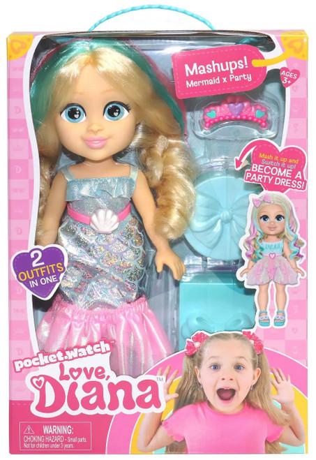 Love, Diana Mashups! Mermaid & Party 13-Inch Doll