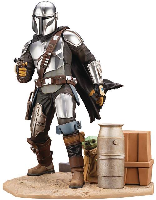 Star Wars ArtFX The Mandalorian with Child Statue (Pre-Order ships November)