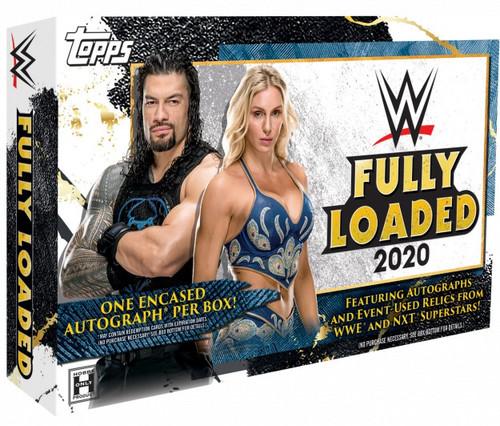 WWE Wrestling Topps 2020 Fully Loaded Trading Card HOBBY Box [1 Encased Autograph]