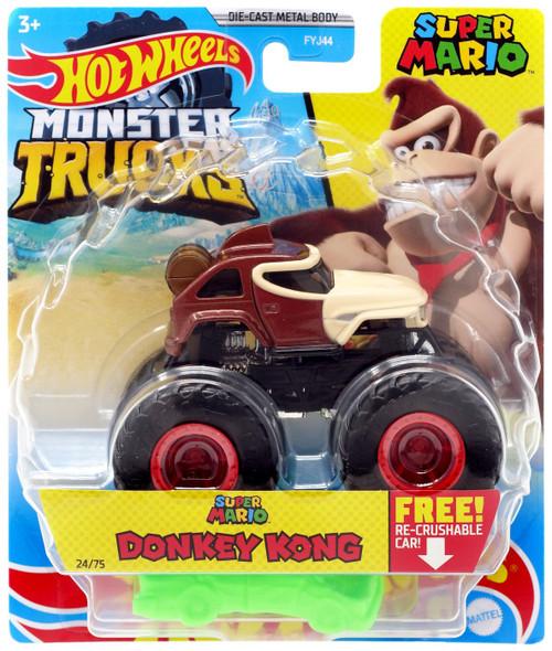 Hot Wheels Monster Trucks Super Mario Donkey Kong Diecast Car [2021]