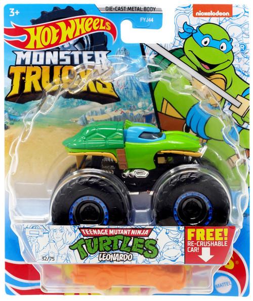 Hot Wheels Monster Trucks Teenage Mutant Ninja Turtles Leonardo Diecast Car