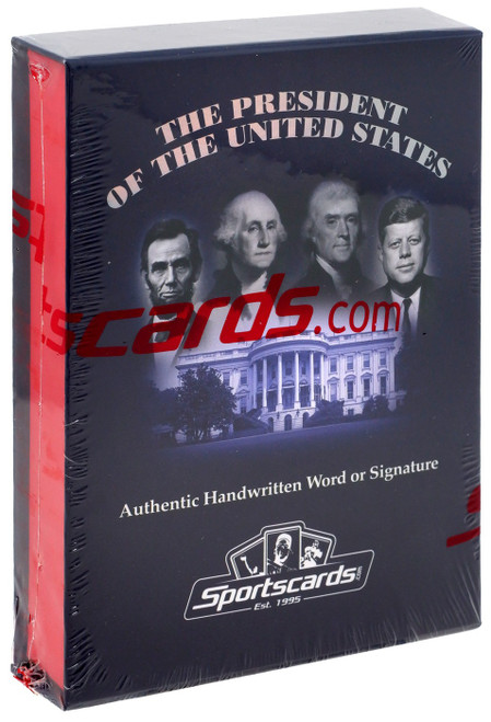 A Word from The President of the United States Trading Card Box [Authentic Handwritten Word or Signature!]