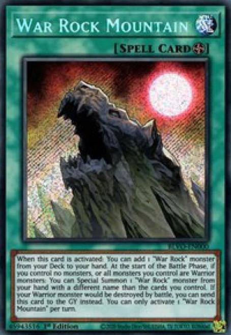 YuGiOh Blazing Vortex Secret Rare War Rock Mountain BLVO-EN000