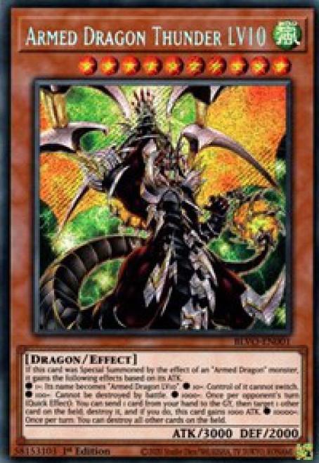 YuGiOh Blazing Vortex Secret Rare Armed Dragon Thunder LV10 BLVO-EN001