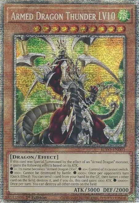 YuGiOh Blazing Vortex Starlight Rare Armed Dragon Thunder LV10 BLVO-EN001