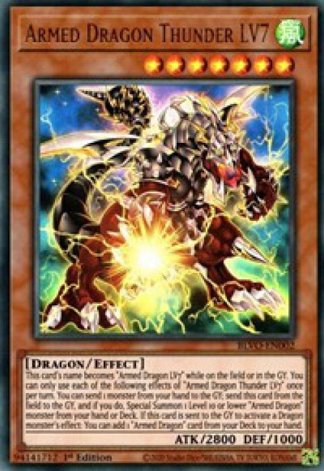 YuGiOh Blazing Vortex Ultra Rare Armed Dragon Thunder LV7 BLVO-EN002