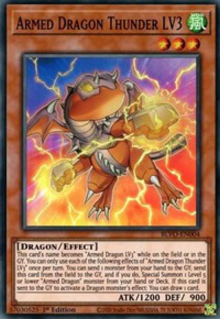 YuGiOh Blazing Vortex Super Rare Armed Dragon Thunder LV3 BLVO-EN004