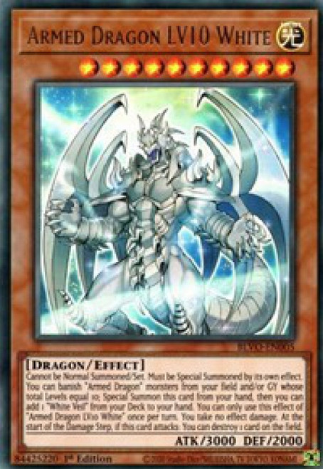 YuGiOh Blazing Vortex Ultra Rare Armed Dragon LV10 White BLVO-EN005