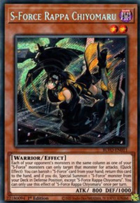 YuGiOh Blazing Vortex Secret Rare S-Force Rappa Chiyomaru BLVO-EN011
