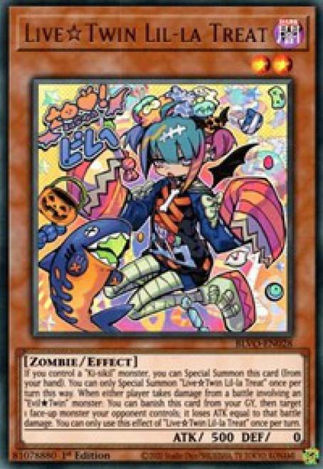 YuGiOh Blazing Vortex Ultra Rare Live Twin Lil-la Treat BLVO-EN028