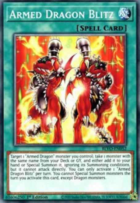 YuGiOh Blazing Vortex Common Armed Dragon Blitz BLVO-EN052