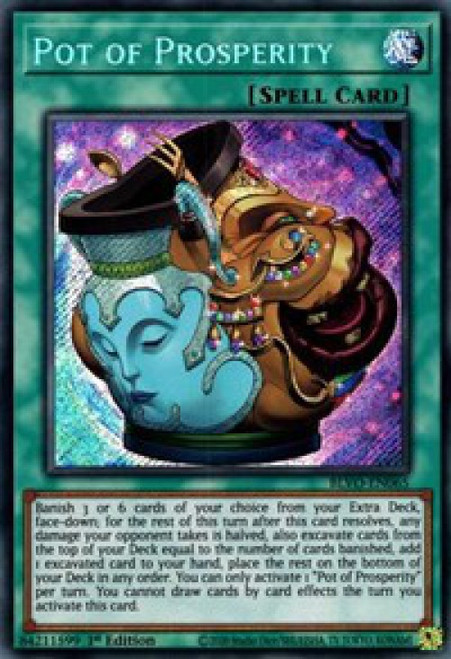 YuGiOh Blazing Vortex Secret Rare Pot of Prosperity BLVO-EN065