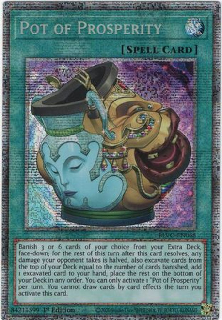 YuGiOh Blazing Vortex Starlight Rare Pot of Prosperity BLVO-EN065