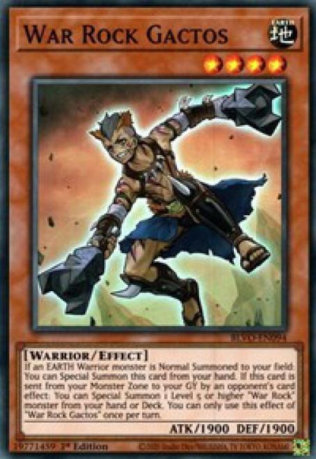 YuGiOh Blazing Vortex Super Rare War Rock Gactos BLVO-EN094