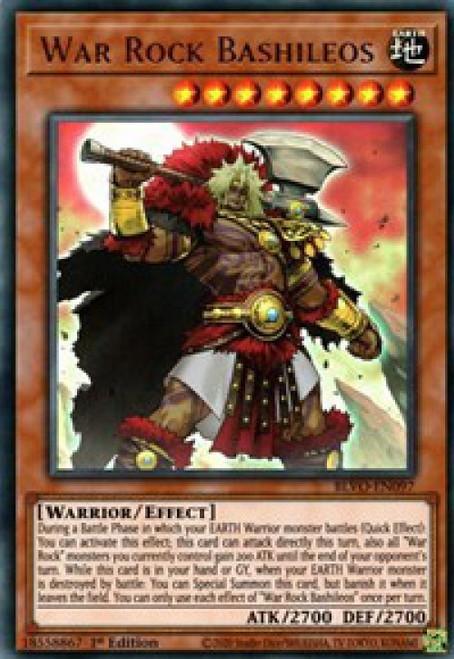 YuGiOh Blazing Vortex Ultra Rare War Rock Bashileos BLVO-EN097