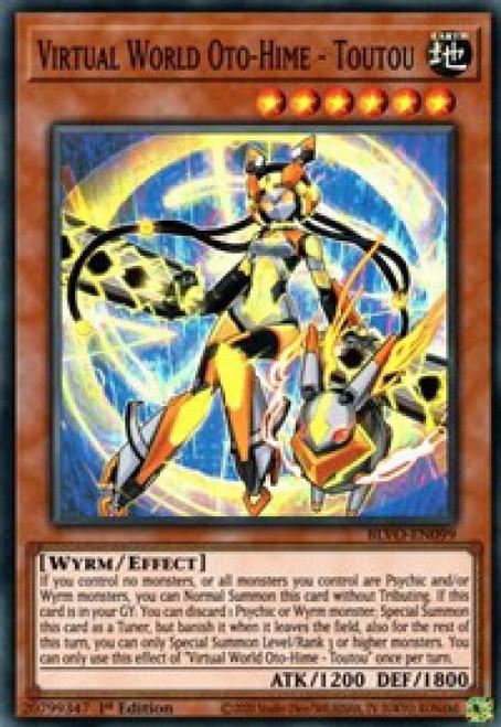 YuGiOh Blazing Vortex Super Rare Virtual World Oto-Hime - Toutou BLVO-EN099