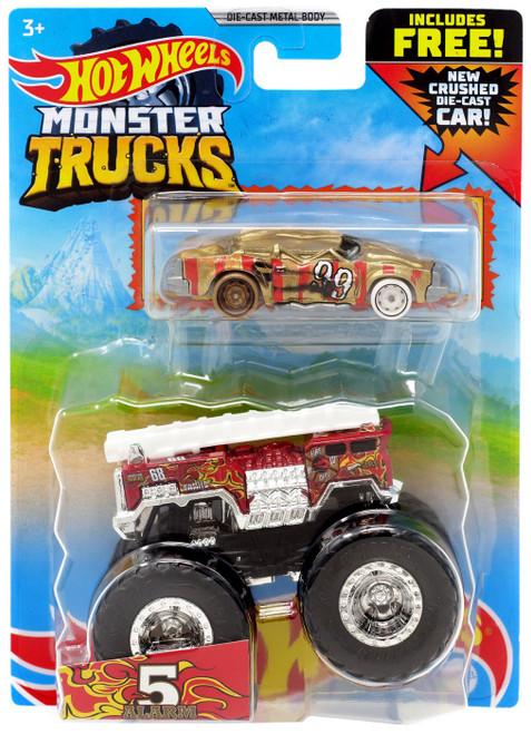 Hot Wheels Monster Trucks 5 Alarm Diecast Car [Crushed Die-Cast Car]