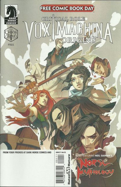 Dark Horse Free Comic Book Day 2020 (Critical Role Vox Machina - Origins / Neil Gaiman's Norse Mythology) Comic Book