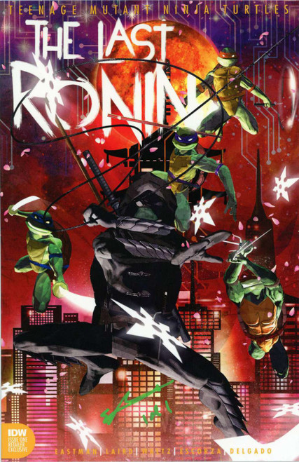 IDW Teenage Mutant Ninja Turtles #1 of 5 Last Ronin Comic Book [Sean Anderson ToyWiz Exclusive Cover, Signed in Turtle Green 1 of 1]