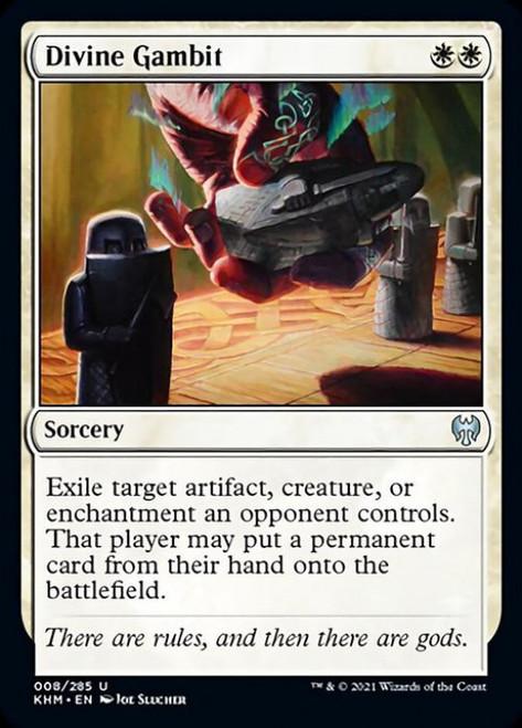 MtG Kaldheim Uncommon Divine Gambit #8