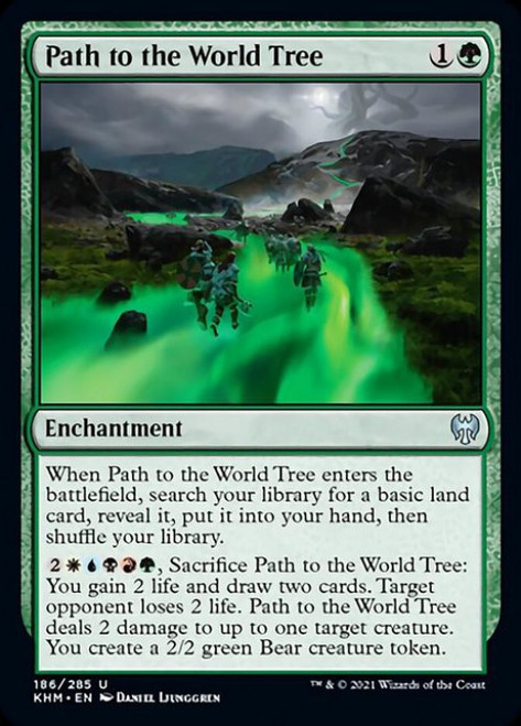 MtG Kaldheim Uncommon Foil Path to the World Tree #186