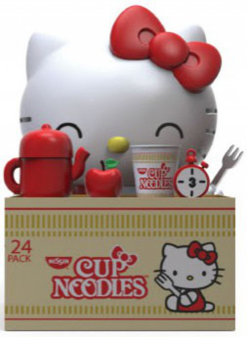 Sanrio Hello Kitty Nissin Cup Noodles Let's Have a Cup Noodle Vinyl Figure (Pre-Order ships October)