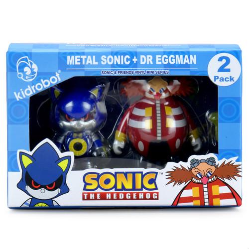 Sonic the Hedgehog Dr. Robotnik & Metal Sonic 3-Inch Vinyl Figure 2-Pack (Pre-Order ships October)