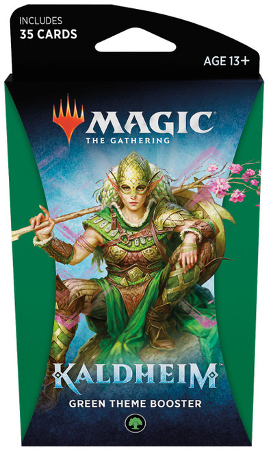 MtG Trading Card Game Kaldheim Green Theme Booster Pack [35 Cards]