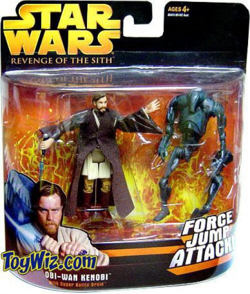 Star Wars Revenge of the Sith Obi-Wan Kenobi & Super Battle Droid Action Figure 2-Pack