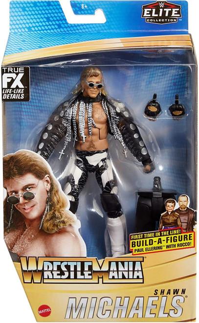 WWE Wrestling Elite Collection WrestleMania Shawn Michaels Action Figure [Entrance Vest, Sunglasses & Paul Ellering & Rocco Build-A-Figure Piece!]