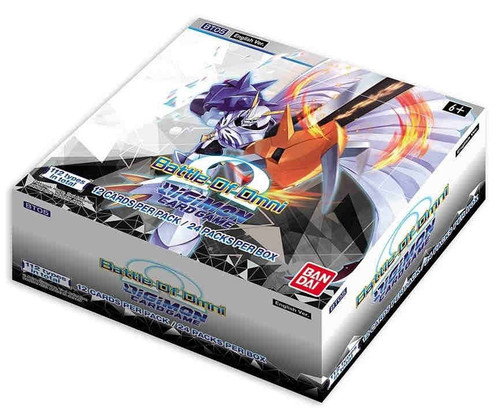 Digimon Trading Card Game Battle of Omni Booster Box BT-05 [24 Packs] (Pre-Order ships August)
