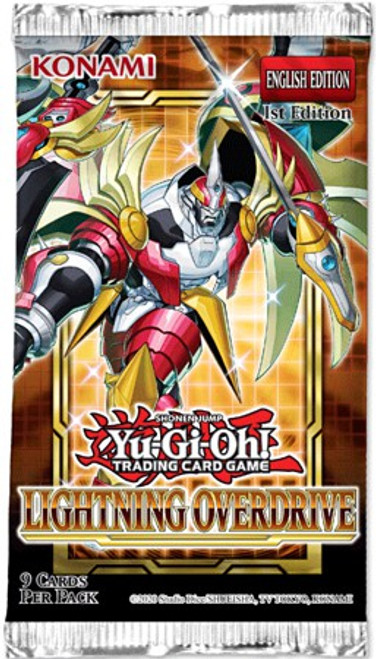 YuGiOh Trading Card Game Lightning Overdrive Booster Pack [9 Cards] (Pre-Order ships May)