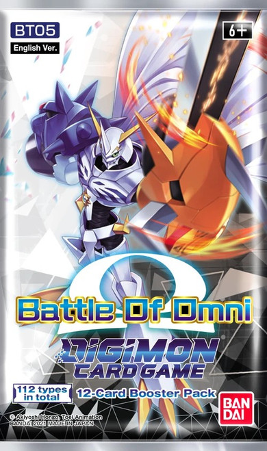 Digimon Trading Card Game Battle of Omni Booster Pack BT-05 [12 Cards] (Pre-Order ships August)