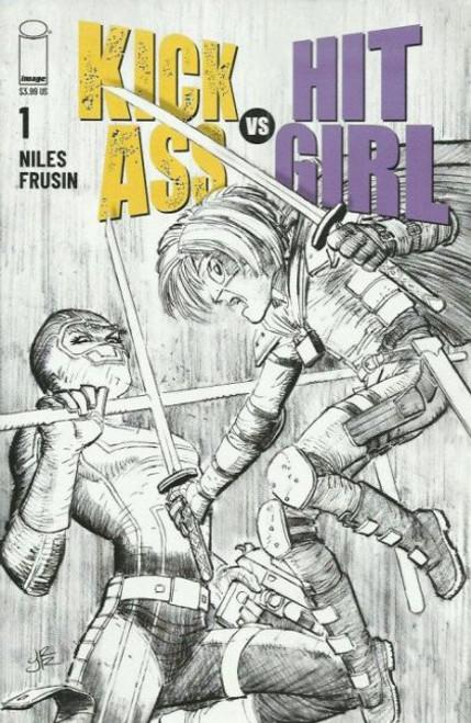 Image Comics Kick-Ass vs Hit-Girl #1 Comic Book [Black & White Variant]