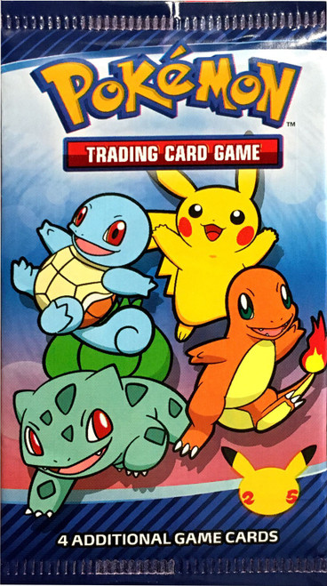 Pokemon Trading Card Game McDonald's Happy Meal 25th Anniversary Promo Booster Pack [RANDOM Outer Sleeve Design, 4 Cards!]